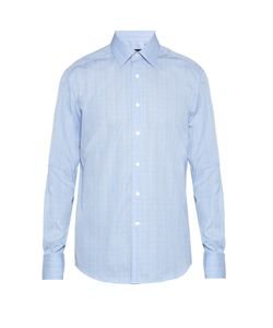 Lanvin | Double-Cuff Checked Cotton Shirt