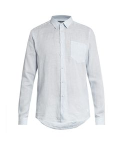 Vilebrequin | Caroubis Micro-Striped Button-Cuff Linen Shirt