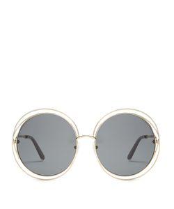 Chloe | Carlina Round-Frame Sunglasses