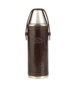 F. HAMMANN | Leather Hunting Flask And Cups