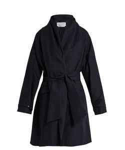 Gabriela Hearst | Audley Draped Cotton Cocoon Coat