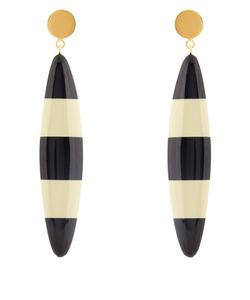 Marni | Striped Long Drop-Earrings