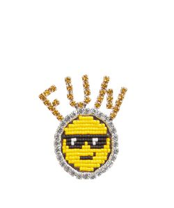 Shourouk | Emojibling Fun Smiley Face Brooch