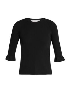 Red Valentino | Fluted-Cuff Cashmere And Silk-Blend Top
