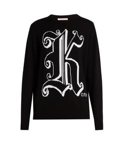 Christopher Kane | Kane-Intarsia Knit Wool Sweater