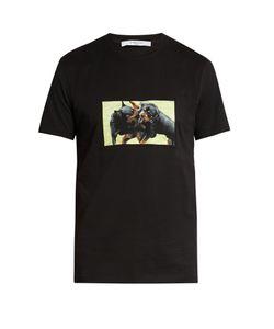 Givenchy   Cuban-Fit Rottweiler-Appliqué T-Shirt