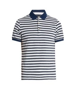 Etro | Striped Terry-Towelling Polo Shirt