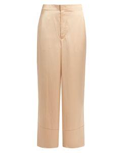 Helmut Lang | High-Rise Wide-Leg Satin Trousers