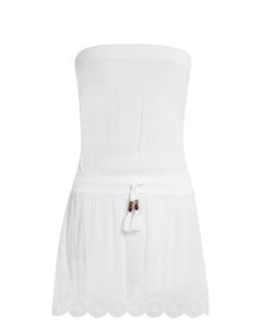 Heidi Klein | Ostuni Bandeau Cotton-Blend Cover Up