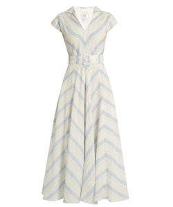 GÜL HÜRGEL | Chevron-Striped Linen Dress