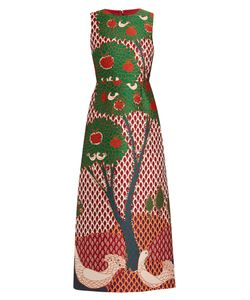 Red Valentino | Fantasy Landscape-Jacquard Dress