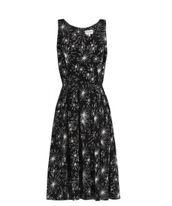 HVN | Jordan Firework-Print Sleeveless Dress