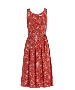 HVN   Jordan Firework-Print Sleeveless Dress