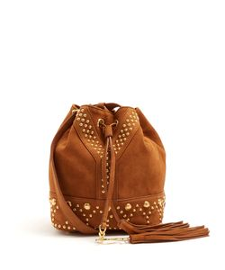 Saint Laurent | Y-Studs Suede Bucket Bag