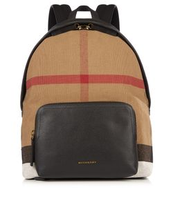 Burberry | Canvas Check And Leather Backpack