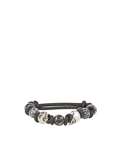Alexander McQueen | Knotted Stone And Skull Leather Bracelet