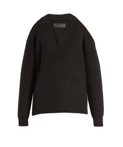 Nili Lotan   Celeste Cut-Out Shoulder Cashmere Sweater