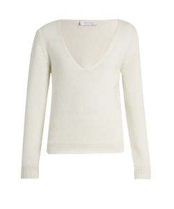 RYAN ROCHE | Deep V-Neck Cashmere Sweater