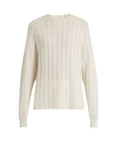RYAN ROCHE | Crew-Neck Cable-Knit Cashmere Sweater