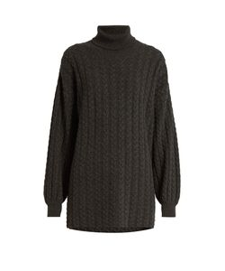 RYAN ROCHE | Roll-Neck Cable-Knit Cashmere Sweater