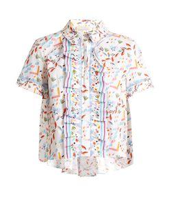 Peter Pilotto | Abstract-Print Ruffle-Trimmed Shirt
