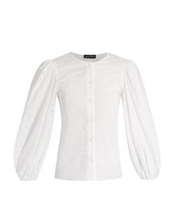 ANNA OCTOBER | Broderie-Anglaise Cotton Blouse