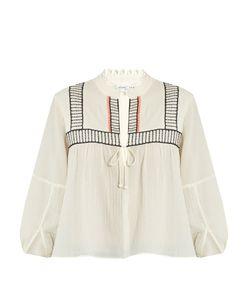 A PIECE APART | Loreto Embroidered Cotton Top