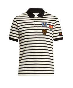 Alexander McQueen | Appliqué Short-Sleeved Polo Shirt