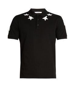 Givenchy | Cuban-Fit Star-Appliqué Polo Shirt