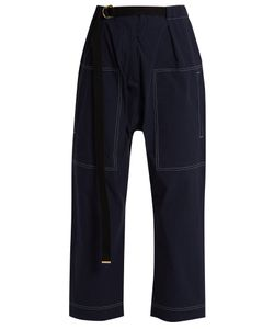 Marni | Contrast-Stitch Cropped Trousers