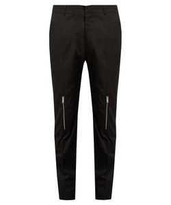 Alexander McQueen | Zip-Cuff Straight-Leg Cotton Trousers