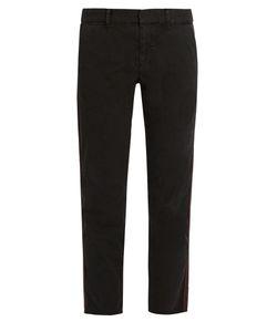 Nili Lotan   East Hampton Slim-Leg Cotton-Blend Trousers