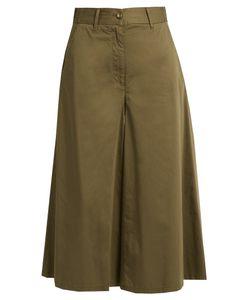 MM6 by Maison Margiela | Wide-Leg Cotton-Poplin Cropped Trousers