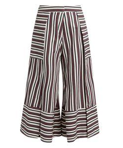PALMER/HARDING | Contrast-Cuff Side-Slit Culottes