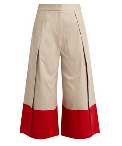 PALMER/HARDING | Contrast-Cuff Side-Slit Culottes