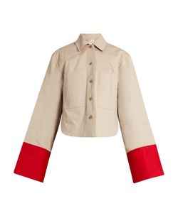 PALMER/HARDING | Contrast-Cuffs Cotton-Twill Jacket