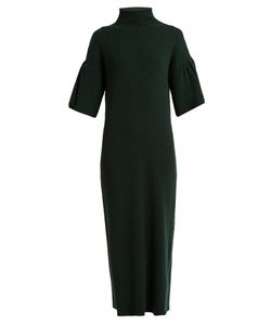 RYAN ROCHE   High-Neck Ribbed-Knit Cashmere Dress