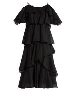 ANNA OCTOBER | Tiered Ruffled Georgette Dress