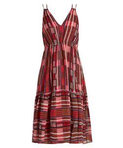A PIECE APART | Daphne Borderlines-Print Silk Dress
