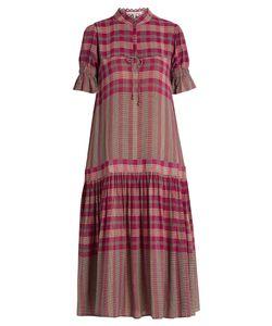 A PIECE APART | Los Altos Dropped-Waist Plaid Dress