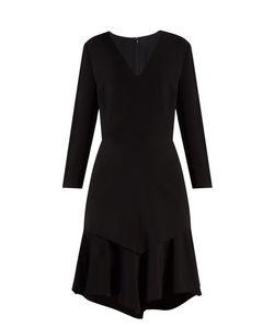 Givenchy | V-Neck Tiered-Skirt Cady Dress