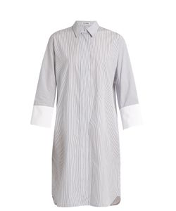 Jil Sander | Canvas Striped Cotton Shirtdress