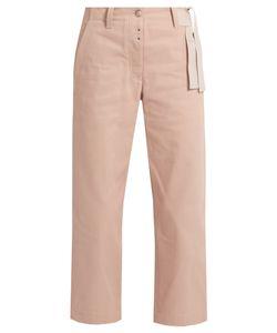 MM6 by Maison Margiela | Waist-Tie Wide-Leg Cropped Jeans