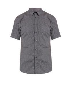 Alexander McQueen | Micro Skull-Print Short-Sleeved Shirt