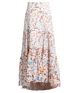 Peter Pilotto | Abstract-Print Dip-Hem Skirt