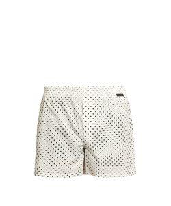 Dolce & Gabbana | Polka-Dot Print Cotton-Poplin Boxer Shorts
