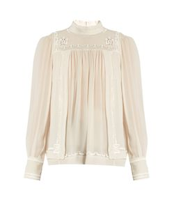 Isabel Marant | Maeva High-Neck Embroidered Blouse
