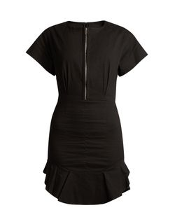 Isabel Marant Étoile | Neit Zip-Front Ruffle-Hem Dress