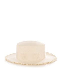 FEDERICA MORETTI | Panama Frayed-Edge Straw Hat