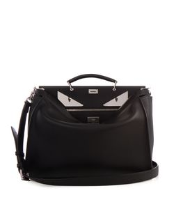 Fendi | Selleria Bag Bugs Peekaboo Leather Weekend Bag